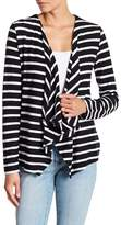 Joe Fresh Draped Stripe Cardigan