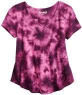 Mudd Girls 7-16 Tie-Dye Swing Lace-Up Top