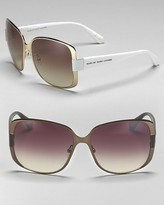 MARC BY MARC JACOBS Oversized Square Metal Rim Sunglasses