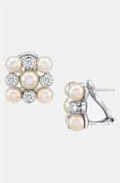 Majorica 'Graphic Contrast' Pearl & Cubic Zirconia Stud Earrings