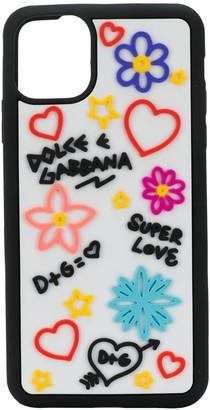 Dolce & Gabbana multi-logo applique iPhone 11 Pro Max case