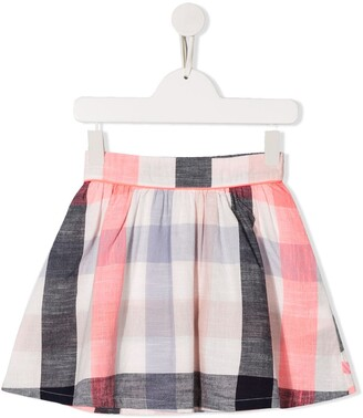 Billieblush Gingham Check Print Flared Skirt