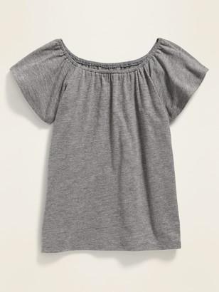 Old Navy Slub-Knit Flutter-Sleeve Top for Girls