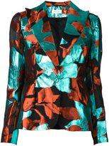 DELPOZO abstract print blazer - women - Polyester/Metallized Polyester/Silk/Cotton - 40