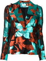 DELPOZO abstract print blazer - women - Silk/Cotton/Polyester/Metallized Polyester - 40