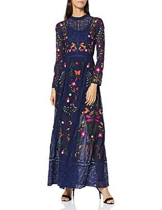Frock and Frill Women's Gryffyn Embroidered Lace Maxi Party Dress,(Size:)