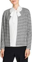 Olsen Glam Textured Tweed Open-Front Jacket