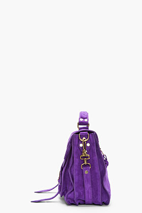 Proenza Schouler Veruca Salt Purple Suede foldover PS1 messenger bag