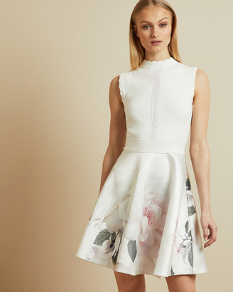 Ted Baker CORDINA Bouquet jacquard skirt dress