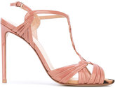 Francesco Russo ankle length sandals - women - Patent Leather/Leather - 36