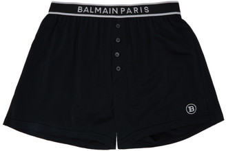 Balmain Black Cotton Boxers