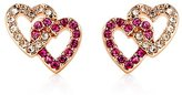 Juicy Couture Pave Double Heart Earrings