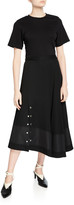 3.1 Phillip Lim Short-Sleeve Flared T-Shirt Dress with Snaps