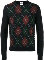 Valentino argyle crew neck sweater - men - Virgin Wool - S