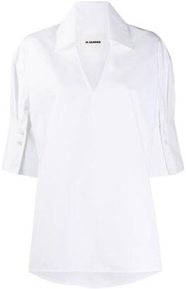Jil Sander Open Collar Crisp Shirt
