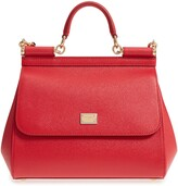 Dolce & Gabbana Small Sicily Leather Satchel