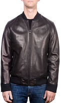 Ungaro Perforated Lamb Leather Bomber Jacket