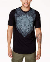 Sean John Men's Big and Tall Lion Rhinestone Graphic-Print T-Shirt