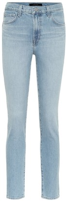 J Brand Ruby cropped high-rise skinny jeans
