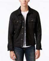 William Rast Men's Erwin Black Coated Denim Jacket