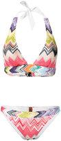 Missoni zig zag bikini - women - Nylon/Spandex/Elastane/Viscose - 40