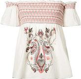 Rachel Zoe embroidered smock blouse - women - Silk/Cotton - M