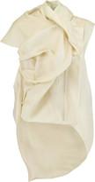 Rick Owens Galle draped silk-gazar gilet