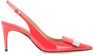 Sergio Rossi Slingback 85mm Pumps