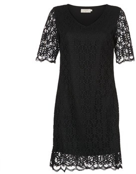 Cream LULU DRESS women's Dress in Black