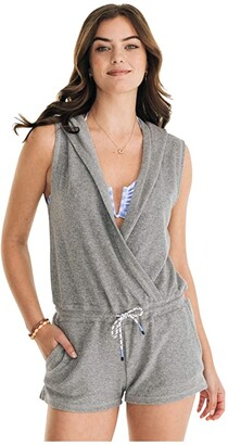 Southern Tide Filippa Cover-Up Romper (Heather Grey) Women's Swimsuits One Piece