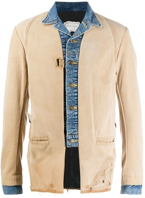 Greg Lauren Denim Hybrid Jacket