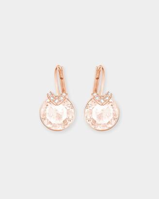 Swarovski Bella V Rose Gold Earrings with Pink Crystals