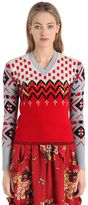 Coach Embroidered Wool Jacquard Sweater