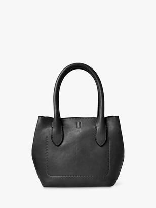 Ralph Lauren Polo Vachetta Leather Tote Bag, Black