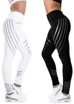 CFR New High Waist Leggings Casual Workout Active Sport Yoga Pants Ankle-Length Nine Pants Stretch Skinny Tights ,M USPS Post