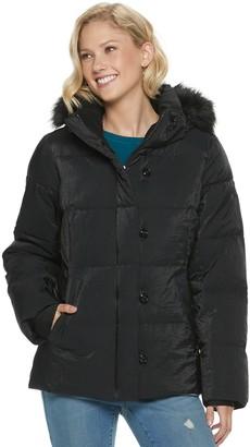 ZeroXposur Women's Trinity Heavy Puffer Faux Fur Hooded Jacket