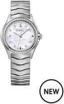 Ebel Wave Mother Of Pearl Dial Diamond Set Stainless Steel Bracelet Ladies Watch
