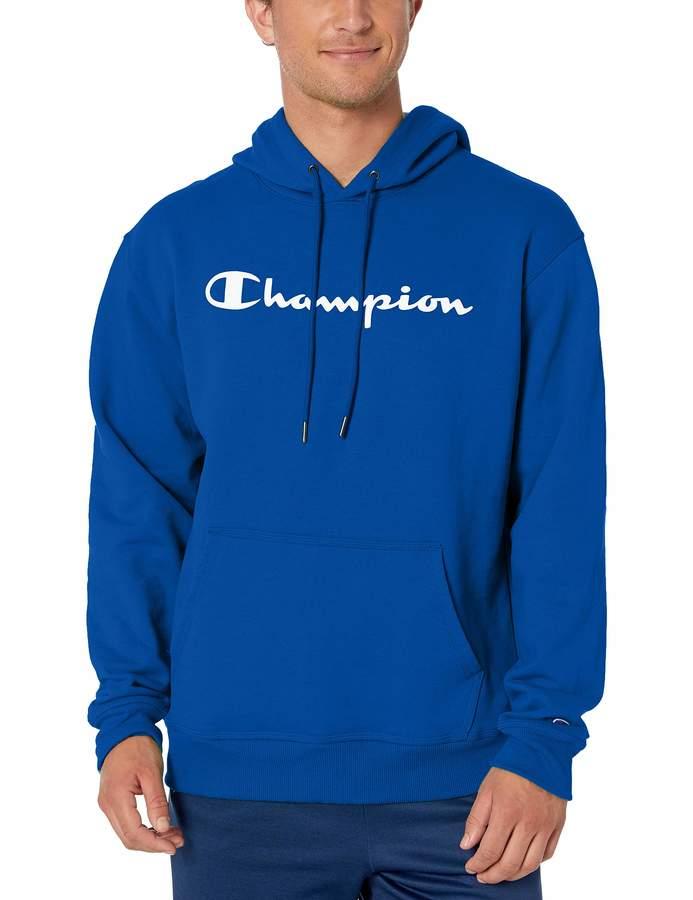 Champion Men's Graphic Powerblend Fleece Pullover Hoodie Sweater