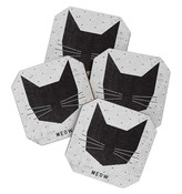 DENY Designs Meow Coasters - Set of 4