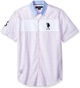 U.S. Polo Assn. Men's Short Sleeve Classic Fit Striped Shirt