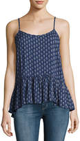 Velvet Madelyn Printed Tank Top, Blue