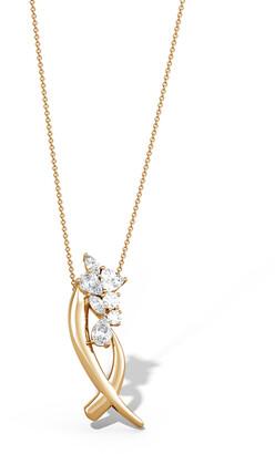 Natori Sumi Stroke Cascading Diamond Slider Pendant Necklace