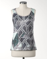 Coldwater Creek Geometric shimmer top