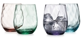 The Cellar Optic Color Collection 4-Pc. Stemless Wine Glasses