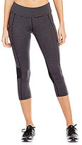 Calvin Klein Crossover Side Pocket Mesh Back Inset Cropped Leggings