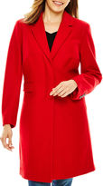 Liz Claiborne Wool-Blend Walking Coat - Tall