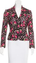 Moschino Notch-Lapel Floral Jacket