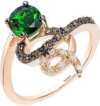 LeVian Le Vian Lexy 14K Rose Gold 0.88 Ct. Tw. Diamond & Chrome Diopside Ring