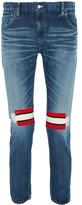Facetasm Ribbed Wool-trimmed Mid-rise Slim-leg Jeans - Mid denim