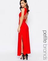 Lipstick Boutique Petite Maxi Dress With Open Back